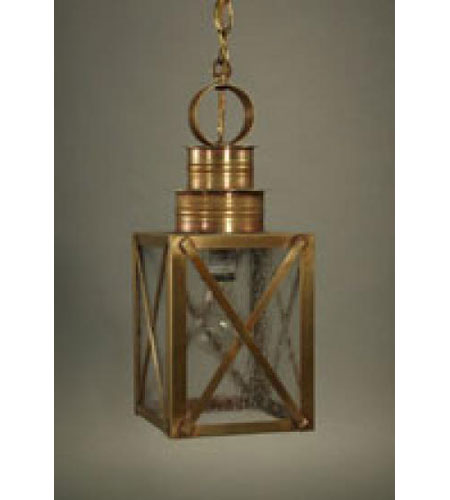 Northeast Lantern 5032-AB-MED-SMG Suffolk 1 Light 6 inch Antique Brass Hanging Lantern Ceiling Light in Seedy Marine Glass photo